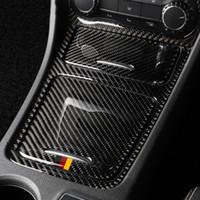 Carbon Fiber Central Control Panel Stickers Decoration Trim Car Covers for Mercedes A Class CLA GLA 2013-2018 Accessories