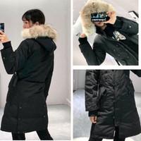Winter donw jakcket neue Art und Weise Parka Winter Daunenjacke Frauen echter Wolf Pelz hoold Kleidung Mantel Farbe Overcoat Frauen-Jacken-Parka
