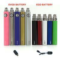 EGO-T Evod Ugo Batteria per sigaretta elettronica ECig Voltabilità invariabile 510 Thread cavo USB 650mAh 900mAh 1100mAh 1300mAh Muti-Color CE5