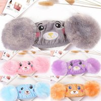 Cover 2 In Face 1 Child Mask Cartoon Bear Plush Ear Protecti...