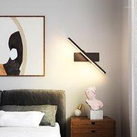 Luminarias Zisiz Luces de pared LED modernas para sala de estar Habitación de noche de dormitorio Lustres Lustres Blackwhite Sconence Lámpara de pared LED1