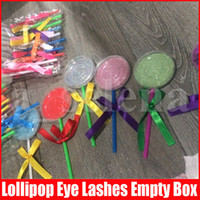 Lollipop Shape Lashes Package Box 3D Mink Eyelashes Boxes Fa...