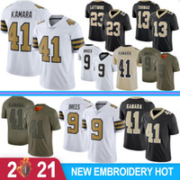 41 Alvin Kamara Jerseys 9 Drew Brees Homens Football Jerseys 23 Marshon Lattimore 13 Michael Thomas 7 Colina 88 Bryant 94 Cameron 2020 Novo