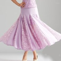 Yeni Balo Salonu Dans Etekler Dantel Uzun Waltz Tango Kadınlar için Modern Dans Kostümleri11