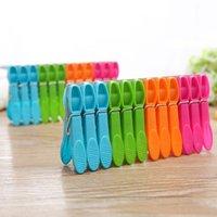 Süßigkeit-Farben-Reisen Wäscherei Kleidung Pins Hängen Clips Wäscheklammern Kunststoff Kleiderbügel Racks Clothespins freies Verschiffen