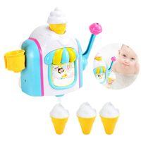 Yeni Dondurma Makinesi Kabarcık Makinesi Banyo Oyuncakları Eğlenceli Köpük Koni Fabrika Küvet Oyuncak Hediye Yenidoğan Bebek Banyo Oyuncakları Çocuklar için # 20 LJ201019