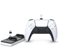 Chegada nova dupla Charger Doca Mount Suporte Recarregador Para PS5 Gamepad Wireless Controller Com Retail Box