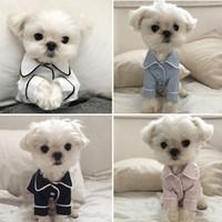Ropa de lujo para perros Pijamas Pijamas Ropa para mascotas para pequeños perros medianos Ropa abrigo Yorkies Chihuahua Bulldogs Chaqueta Pijamas Camisas