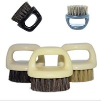 Plastic retro baard modellering borstel zwijn borstels mannen snor vinger ring scheren draagbare gezichtsverzorging schone borstels 2 4MX G2