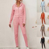 Tuta da donna Autunno Autunno Sportswear Sport sportivi Sport Felpa e Pantaloni da jogging Femme 2 pezzi Set Sweatsuit 2020