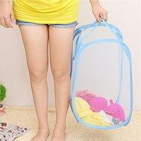 Waschbare Korbbeutel faltbare Pop-Up-Waschen-Kleidung Hamper Mesh-Speicher-Kinderspielzeug-Schuhe Sonnenbräuche-Speicher DHL-freies Verschiffen 140 G2