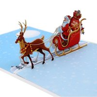 3D UP Santa Claus Cards Merry Christmas Greeting Cards Xmas Party Invitations Gifts New Year Greeting Card Gifts Postcard