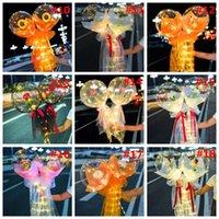 الصمام البالون مضيئة روز باقة شفافة بوبو الكرة روز عيد الحب هدية عيد ميلاد حفل زفاف الديكور بالونات W98