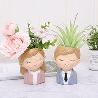 Amanti creativi Resina Flowerpot Piante succulente Piante Pianta Panta Mini Cactus Flower Pot Xmas Wedding Home Decora Sea Shipping ZZC4730