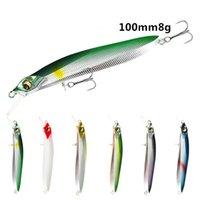 30pcs Minnow Fishing Lure Swimbait 10 centimetri 8g hard esche 3D occhi con Treble Hook Fishing Tackle mescolare il colore
