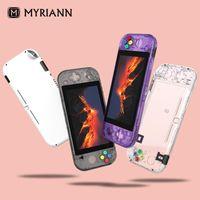 Contrôleurs de jeu Joysticks pour commutateur Lite Cool transparent Cas de protection de protection de la peau Mignon Couverture dure Console Accessoires