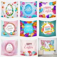 부활절 달걀 태피스 트리 벽에 매달려 행복 한 부활절 배경 사진 계란 봄 태피스 트리 침실 거실 dorm 장식
