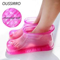 Bad Zubehör Set Fußmassage Stiefel Haushalt Relaxation Slipper Schuhe Füße Pflege Kompresse Soak Theorapie AcuPoint Sole1