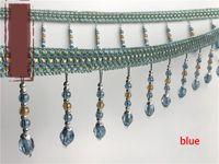 12 Yards Lot Crystal Beads pizzo nastri nastri nastri nappe tazzinatura frange a sfera per tessuto per cucire fai da te vestiti tende accessori h jlloac