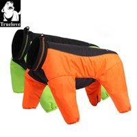 TrueLove Winter Pet Dog Dog Reversible Одежда Открытый Теплый Большая Маленькая Собака Водонепроницаемый Светоотражающий Ходьба Пешие прогулки работает TLG2271 201225