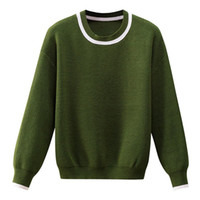 BYGOUBY rayé femme Pulls O manches longues overs Haut élastique Femmes Tricot Jumper Noir Vert Noël Swaters Pull 201017