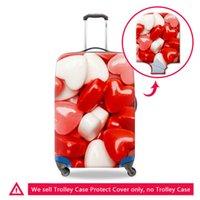 18 20 22 24 26 28 30-дюймовая поездка Эластичный чемодан защитные охватывает спандекс на молнии багажного багажа сумка для туристических аксессуаров
