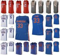 Florida Gators College Basketball Jersey 25 Chandler Parsons 41 Neal Walk 50 Udonis Haslem 10 Dorian Finney-Smith Jugend Individuelle genähtes