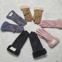Europäische und amerikanische Handschuhe Damenherbst Winter-Touchscreen mit Plüsch- und verdickten warmen Handschuhen
