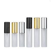 5ML 10ML 1/3 onças de ouro fino geada Névoa Atomizador garrafa de vidro Spray Fragrance Perfume garrafa Perfume vazio para o grupo de viagem