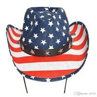 屋外ビーチアメリカの旗印刷帽子23hr ZZのための女性西カウボーイジャズ馬術用ワイドブリムキャップのための太陽の帽子