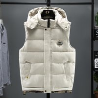 2020 New Brand Mens Jacket Sleeveless Winter Fashion Casual Coats Male Cotton-Padded Men's Vest Men Thicken Waistcoat 5XL