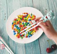 Crianças Treinamento AntiGid Chopsticks Portátil Aprendendo Bebê Alimentos Suplementos de Jantar Talheres de Jantar Alimentação Dos Desenhos Animados Dos Desenhos Animados Chopsticks BbyAbxw