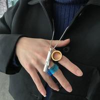 Mode DHEYGERE Whistle-Anhänger-Halskette In Einfach Erweitert Tide Marke Passende Kleidung Strickjacke-Kette Weiblich Männlich Schmuck Hochzeit Geschenke