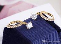 오스트리아 크리스탈 스터드 귀걸이를 들어 여성 신부 웨딩 귀걸이 비쥬 팜므 귀걸이 패션 보석 큰 귀걸이