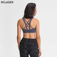 NCLAGEN Outono Duplo 2020 Sided Sports Bra Cruz volta Top lingerie para mulheres Gym Workout Correndo High Impact Vest Academia Top