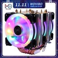 6 tubi di calore RGB CPU Cooler X79 x99 Scheda madre 3pin PWM 4pin Tranquillo per Intel LGA 1150 1151 1155 1366 2011 AM2 AM3 AM4 Ventilado1