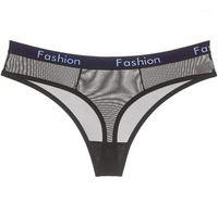 Frauen höschen sexy transparent mesh g string frauen unterwäsche buchstaben gedruckt tangs niedrige taille lingerie tanga1