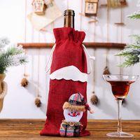 عيد الميلاد زجاجة النبيذ تغطية ثلج الجورب عيد الميلاد هدية عيد الميلاد أكياس التعبئة والتغليف كيس هدايا نيفيداد الكريسمس السنة الجديدة 2020 HH9-3372