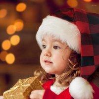 Qifu Рождественская шляпа Взрослые Дети Санта-Клаус Рождественские украшения Navidad 2020 рождественские украшения для дома Новый год 20201