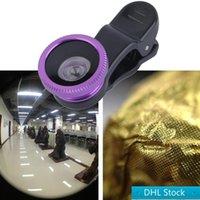 Estoque dhl frete grátis mais novo 3 em 1 clipe universal olho peixe + macro + lente de grande angular para e outros smartphones móveis venda quente