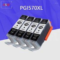 Canon PGI570 için 4PK Siyah Kartuş Yedek PGI-570 PGI 570 XL MG7750 7751 için Mürekkep Kartuşu 6850 MG7752 7753 Yazıcı1