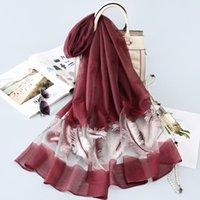 2021Hot estilo pintura a óleo imitação de seda nova seda cetim mulheres lenço coréia leste porta de praia toalha de praia xale