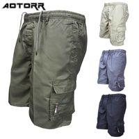 2021 Summer Mens multipocket Pantalones cortos de carga casual suelto al aire libre moda sólido color deporte pantalones hombres