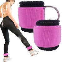 2 stücke Fitness Verstellbare D-Ring Knöchelgurte Home Gymnastik Knöchelriemen Fußstütze Protector Indoor Outdoor Sports Füße Schutz