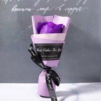 15 سنتيمتر واحدة زهرة العروس حفل زفاف زينة محفوظة الورود عيد الحب الصابون بلوم الشريط ديي هدية متعدد الألوان 1 33YL G2