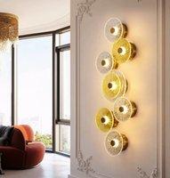 Modern ışık lüks yatak odası LED duvar basit ve yaratıcı otel koridor lamba İskandinav salon duvar ışıkları lambaları
