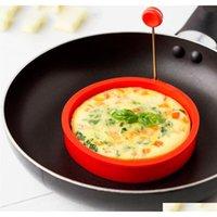 Silikon Spiegel Ei Pancake Ring Omelette Spiegelei Runde Shaper Eier Formen zum Kochen Frühstück Küche Bratpfanne Backofen Küche Gksjk