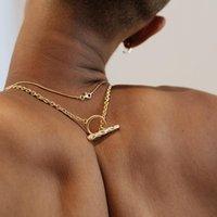 Nueva aparecer en el mercado collar de hip hop femenino marea cadena de clavícula simple temperamento web celebridad masculina marea popular artículo