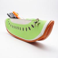 Симпатичные фруктовые стиль школьные карандашные сумки из искусственной кожи косметики сумка многофункциональные офисные организаторы арбуз апельсин киви бетайя 4