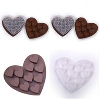 FAI DA TE a forma di cuore stampo al cioccolato morbido gel di silicone in silicone Ice Candy Cookie Cake Cooking Models 2021 Valentine's Day Party Decor Gifts DHL / GRATIS G11304